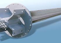 Měřící sonda nad úroveň zavážky vysoké pece